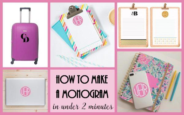 how to make a monogram